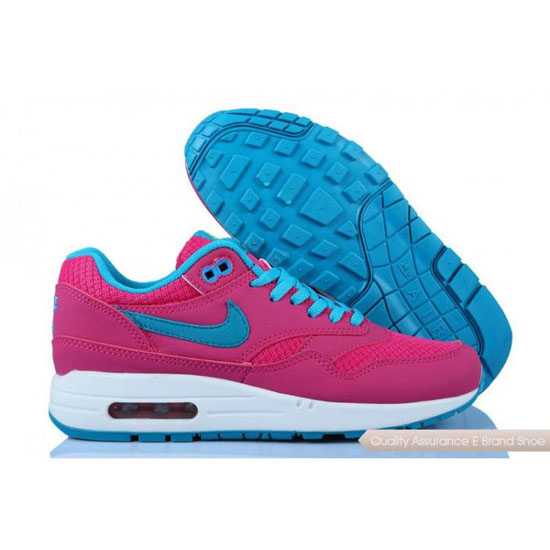Nike Air Max 1 Womens Rose Blue Shoes