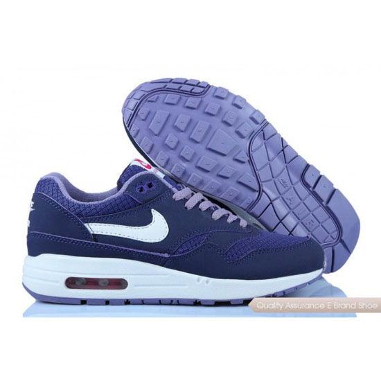 Nike Air Max 1 Womens Purple White Shoes