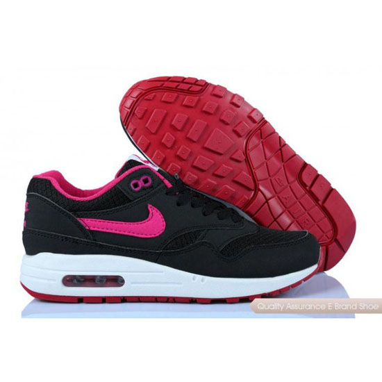 Nike Air Max 1 Womens Black Rose Shoes