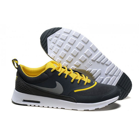 Nike Air Max Men's Thea Print Black White Yellow Shoes