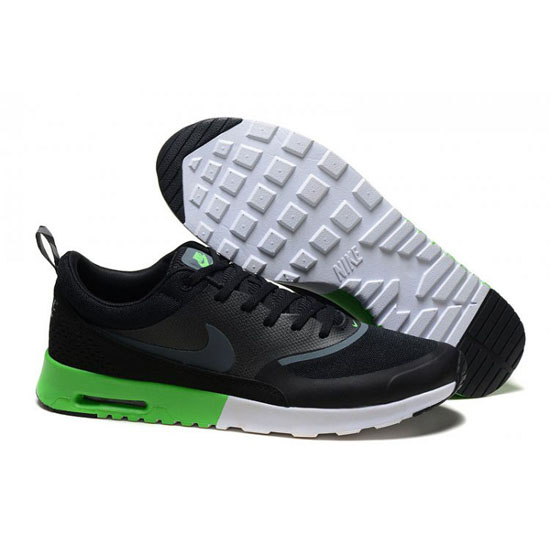 Nike Air Max Men's Thea Print Dark Black White Green Shoes