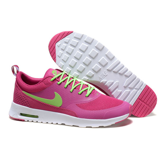 Nike Air Max Women's Thea Dark Pink Green Shoes
