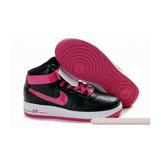 Nike Air Force 1 Womens Black Pink Shoes