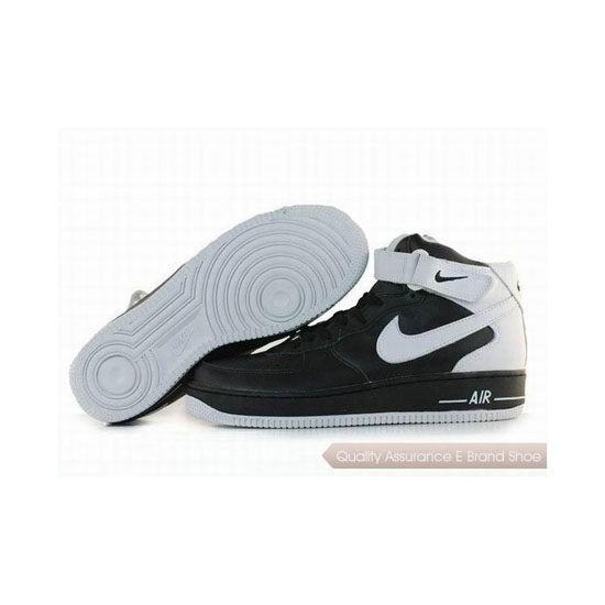 Nike Air Force 1 Mens Black White Shoes