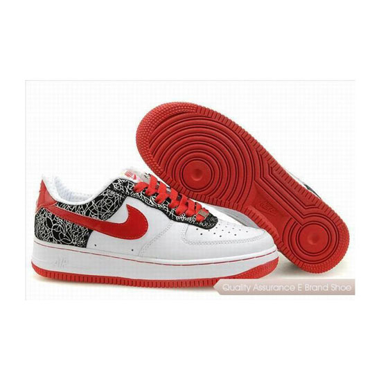 Nike Air Force 1 Womens Red Black Shoes