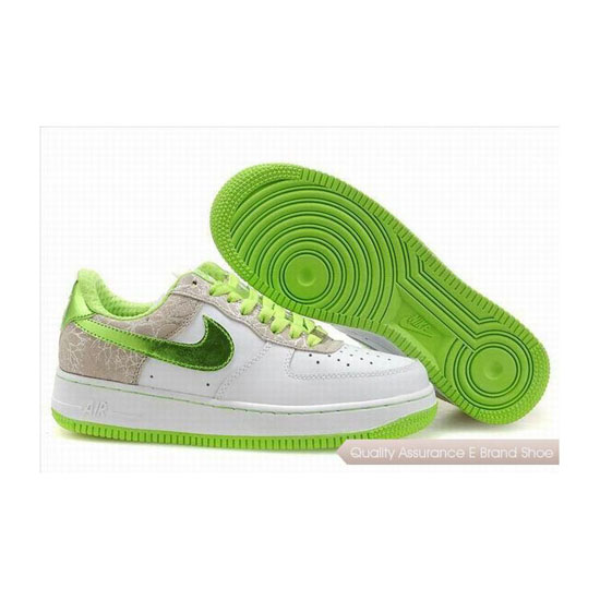Nike Air Force 1 Womens White Green Shoes