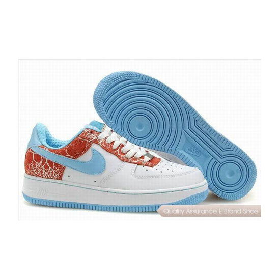 Nike Air Force 1 Womens Blue Red Shoes