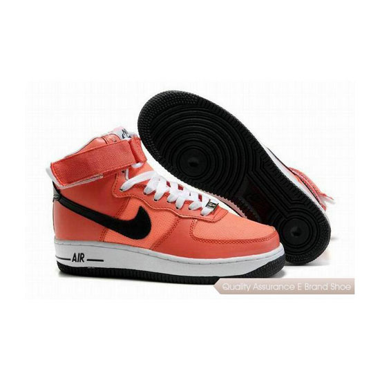 Nike Air Force 1 Womens Orange Black Shoes