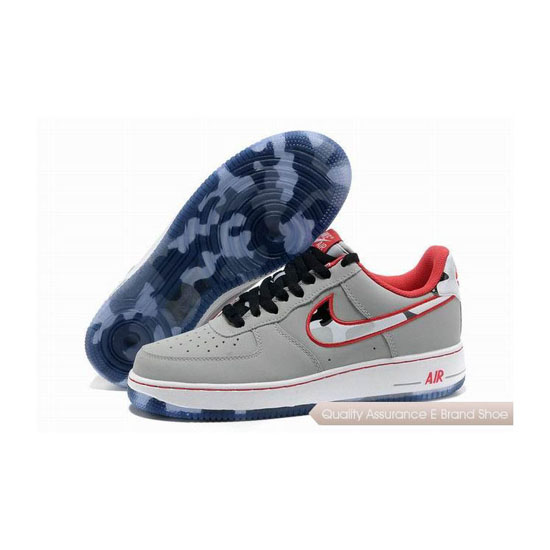 Nike Force 1 Mens Gray Pink Shoes