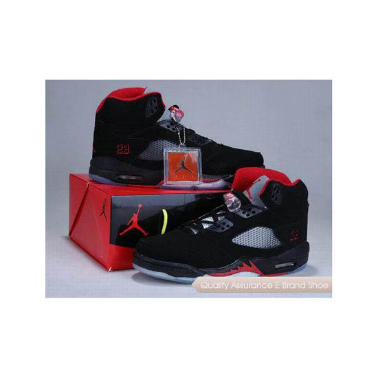 Nike Air Jordan 5 Shoes Box Black/Varsity Red Sneakers