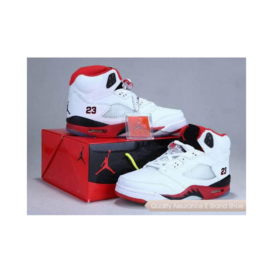 Nike Air Jordan 5 Shoes Box Fire Red Black Sneakers