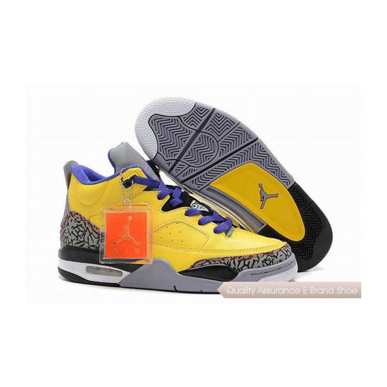 Nike Jordan Son of Mars Low Tour Yellow/Grape Ice-Cement Grey Sneakers