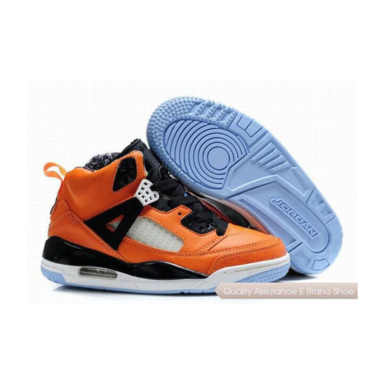 Nike Kids Jordan Spizike Orange Black Sneakers
