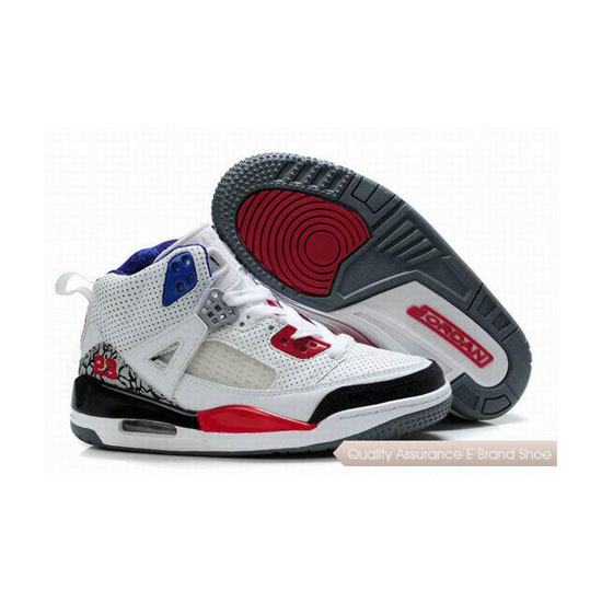 Nike Kids Jordan Spizike White Black Red Sneakers