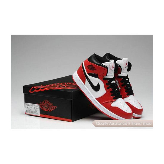 Nike Air Jordan 1 Phat Red/White-Black Sneakers