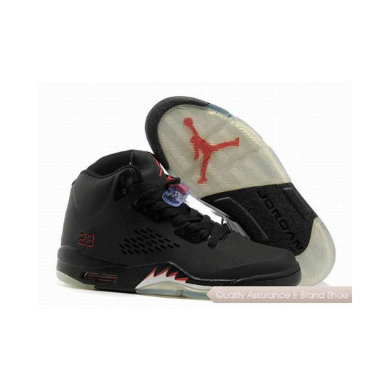 Nike Air Jordan 5 Black/Varsity Red Sneakers