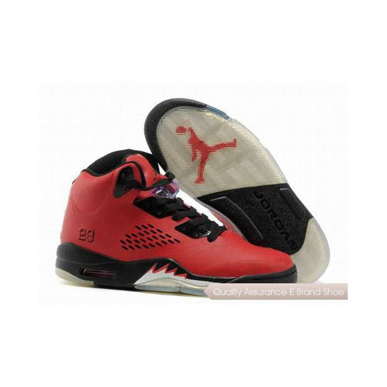 Nike Air Jordan 5 Red Black Sneakers
