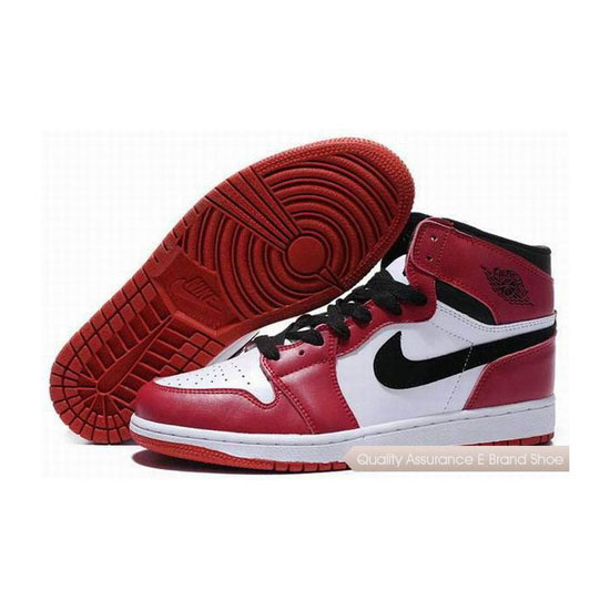 Nike Air Jordan 1 Retro White Black Red Sneakers