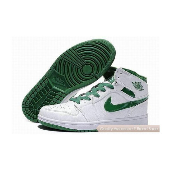 Nike Air Jordan 1 Retro White Green Sneakers