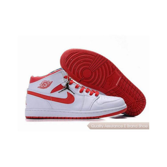 Nike Air Jordan 1 Retro White Red Sneakers