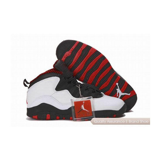 Nike Air Jordan 10 White Black Red with Plastic Tag Sneakers
