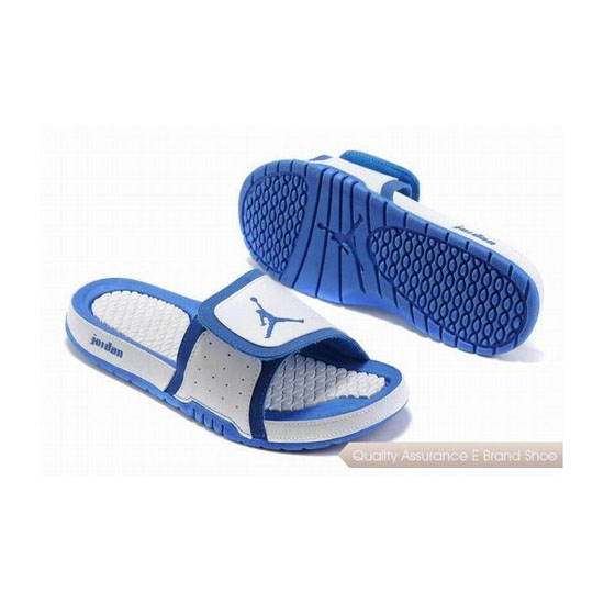 Nike Air Jordan 2 Retro Blue White Hydro Slide Sandals Sneakers