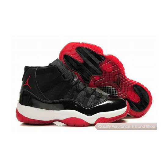 Nike Air Jordan 11 Black/True Red-White Sneakers