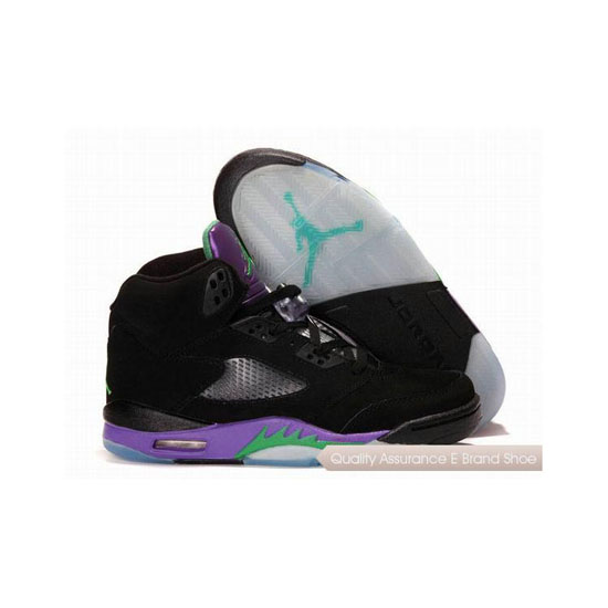 Nike Air Jordan 5 Black/Emerald-Grape Ice Sneakers