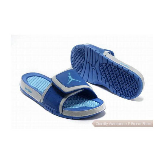 Nike Air Jordan Hydro 2 Slide Sandals Blue Grey Sneakers