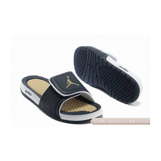 Nike Air Jordan Hydro 2 Slide Sandals Navy-Blue/White Sneakers