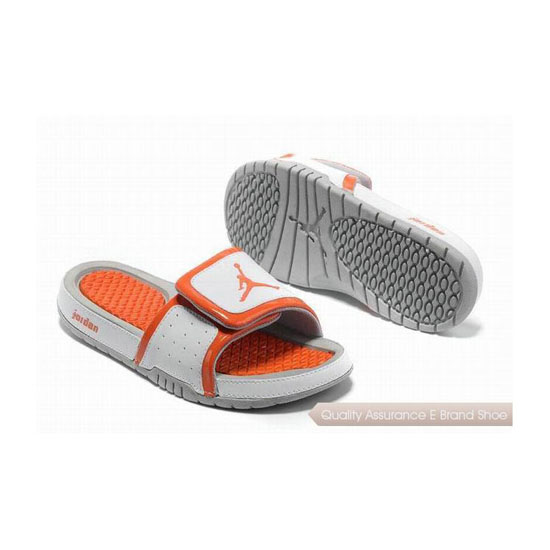 Nike Air Jordan Hydro 2 Slide Sandals White Orange Sneakers