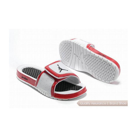 Nike Air Jordan Hydro 2 Slide Sandals White Red Sneakers