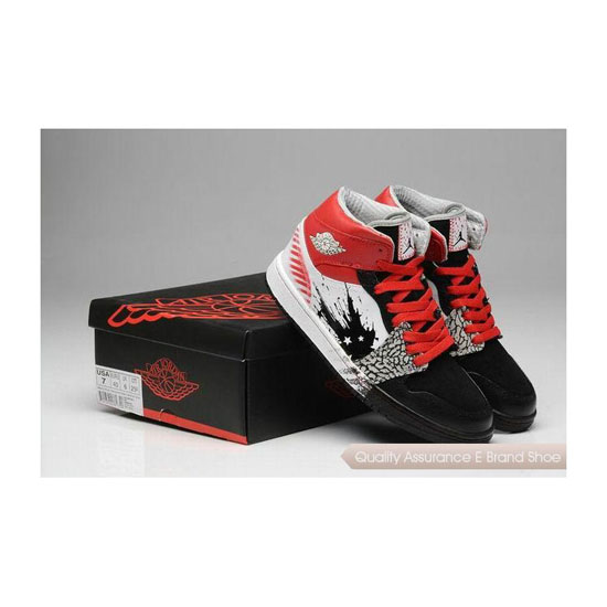 Nike Air Jordan 1 Mid Red Black White Sneakers