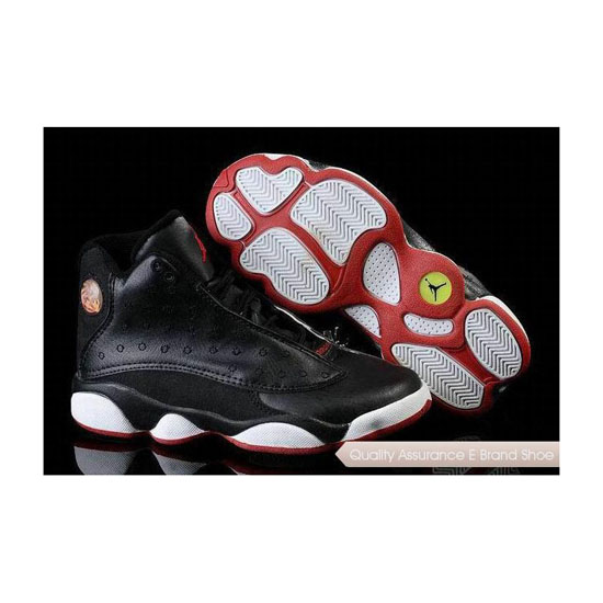 Nike Air Jordan 13 Big Kids Black/Varsity Red-White Sneakers