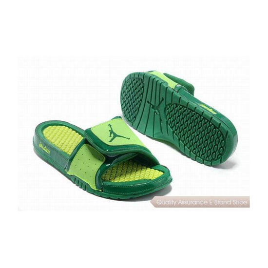 Nike Air Jordan Hydro 2 Slide Sandals Yellow Green Sneakers
