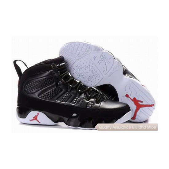 Nike Air Jordan 9 Black White Red Sneakers