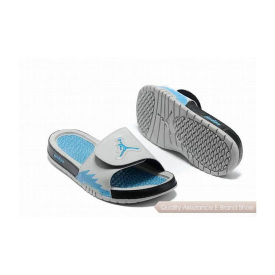 Nike Air Jordan Hydro 5 Slide Sandals White Black Blue Sneakers