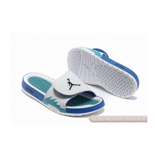 Nike Air Jordan Hydro 5 Slide Sandals White Blue Sneakers