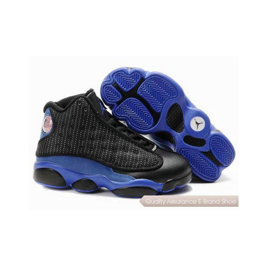 Nike Kids Air Jordan 13 Black Blue Sneakers