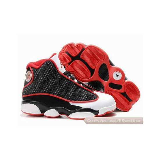 Nike Kids Air Jordan 13 Black White Red Sneakers