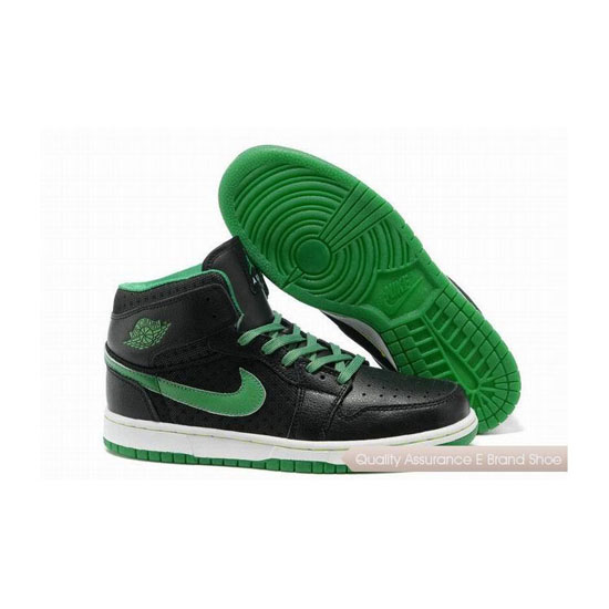 Nike Air Jordan 1 Phat Black Green Sneakers
