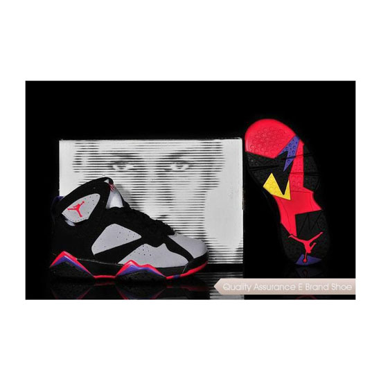Nike Kids Air Jordan 7 Black/Grey-Bordeaux Sneakers