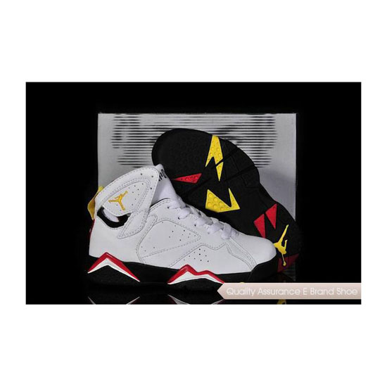 Nike Kids Air Jordan 7 White/Black-Cardinal Red-Bronze Sneakers