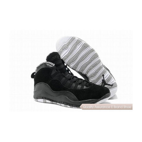 Nike Air Jordan 10 Retro Black/White-Stealth Sneakers