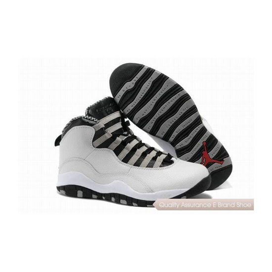 Nike Air Jordan 10 Retro White/Black-Steel Grey-Varsity Red Sneakers