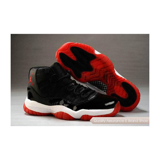 Nike Air Jordan 11 Womens Black/True Red-White Sneakers