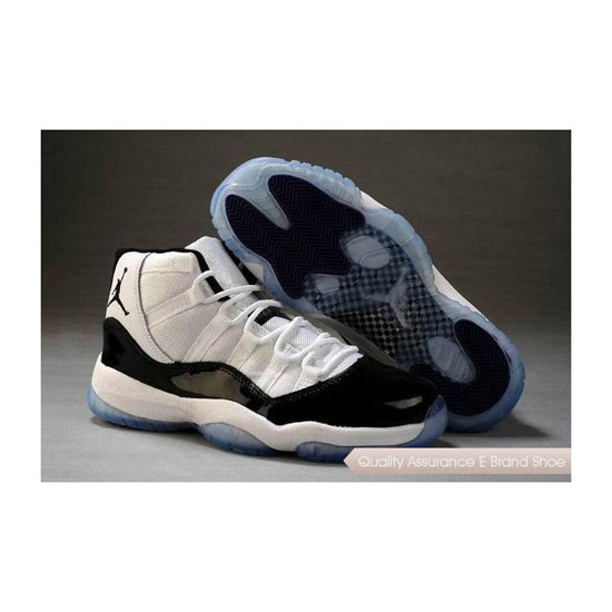 Nike Air Jordan 11 Womens White/Black-Dark Concord Sneakers