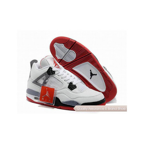 Nike Air Jordan 4 White Cement Red Sneakers