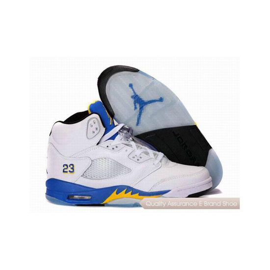 Nike Air Jordan 5 White/Varsity Royal-Varsity Maize Sneakers