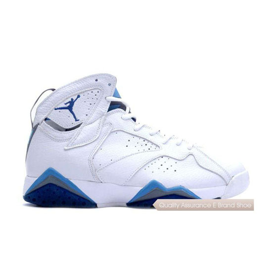 Nike Air Jordan 7 (VII) Retro White/French Blue-Flint Grey Sneakers